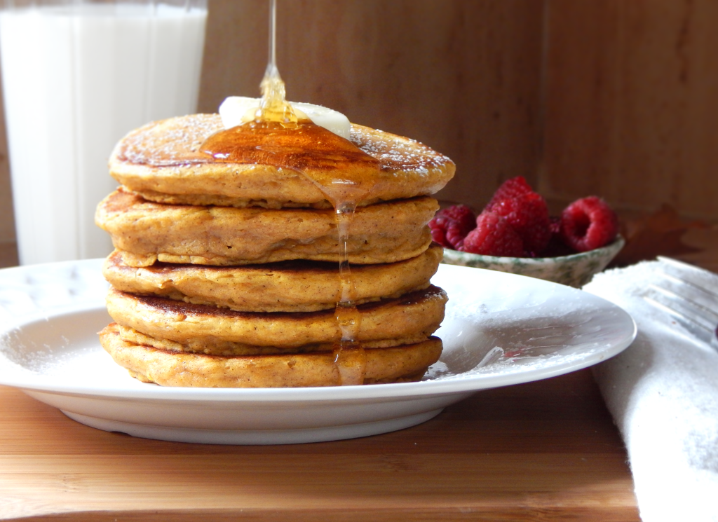 Pumpkin Spice Buttermilk Pancakes for Two | Two Delicious