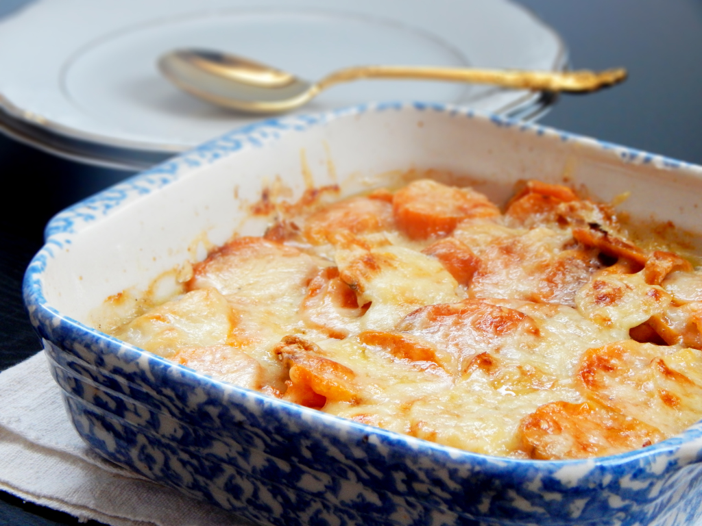 Sweet Potato and Turnip Gratin1