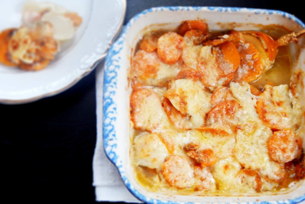 Sweet Potato and Turnip Gratin | Two Delicious