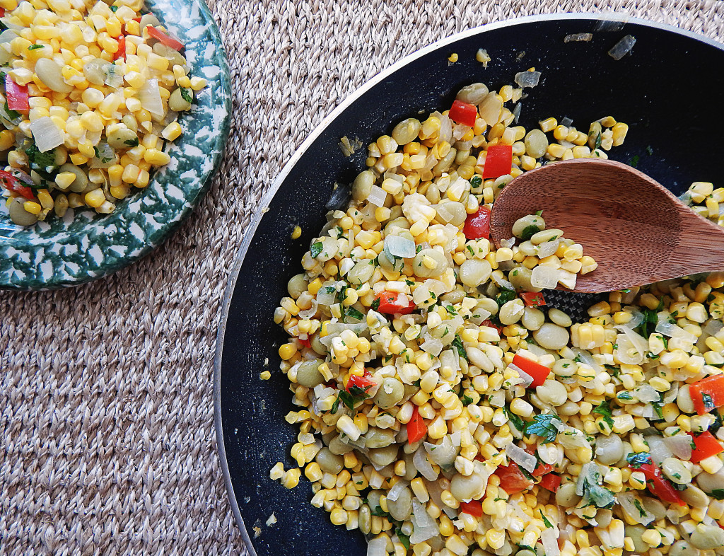 how to make corn succotash